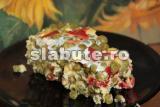 Poza (imaginea) pentru calorii Souffle de mazare, cu ardei gras rosu si telemea de capra, la abur