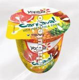 Imagine Iaurt Yoplait Carnaval Mix Portocala Rosie (ananas, portocale rosii, lychees), 3% grasime, Tnuva