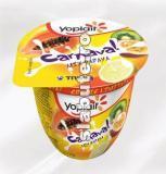 Imagine Iaurt Yoplait Carnaval Mix Papaya (papaya, kiwi, fructul pasiunii, lamaie) 3% grasime, Tnuva
